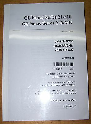 GE Fanuc Series 21-MB, 210 MB Maintenance Manual CNC B-62705EN/02
