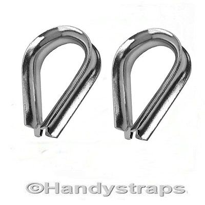 2 x 10mm Wire Rope Thimbles for 10mm wire  Marine Stainless Steel
