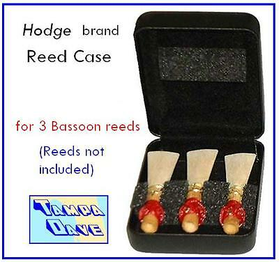 Hodge Bassoon reed case for 3 reeds   *NEW*