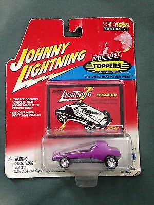 2002 Johnny Lightning 1/64 Scale The Lost Toppers Purple Commuter Car