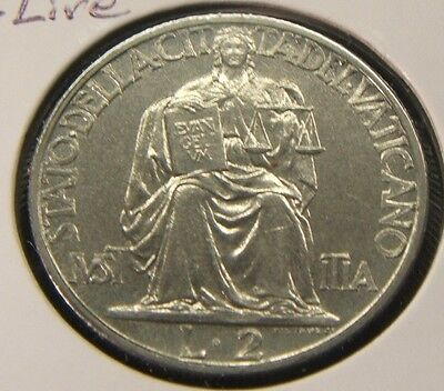 1942~~Vatican City~~2 Lire~~Bu Beauty