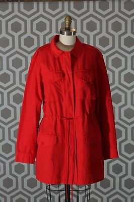 NWT Marc by Marc Jacobs Brice Drawstring Jacket Flame Scarlet Red Coat Small S