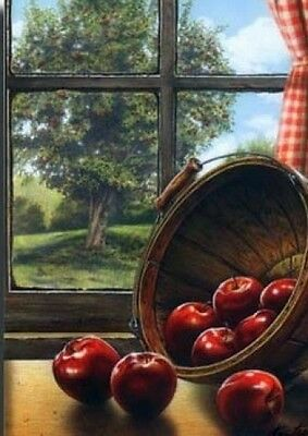 RED DELICIOUS by DOUG KNUTSON 22x28 FRAMED PRINT PICTURE Apples Basket Kitchen