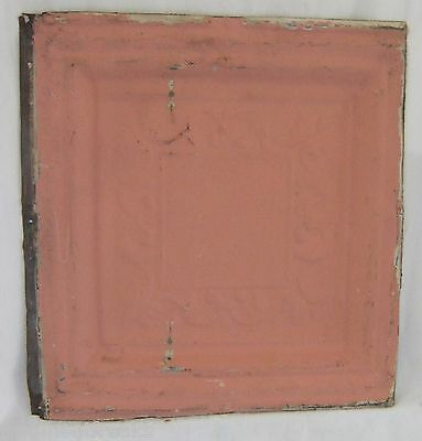 "12""  Antique Tin Ceiling Vintage Architectural Pink"