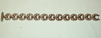 VINTAGE BRACELET MARKED 925 ITALY UNUSUAL CLASP FLEXABLE LINKS