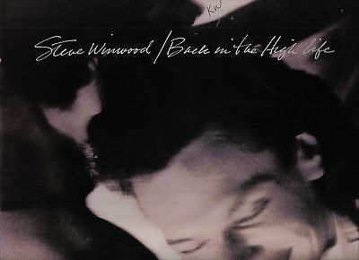 Steve Winwood, Vinyl LP Island Records, 1986, 25448-1, Back in the High Life ~EX