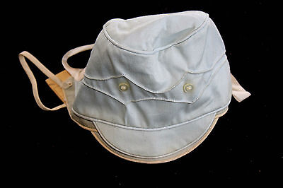 Vintage 1940's Blue Cotton Deadstock Child's Cap Size 14