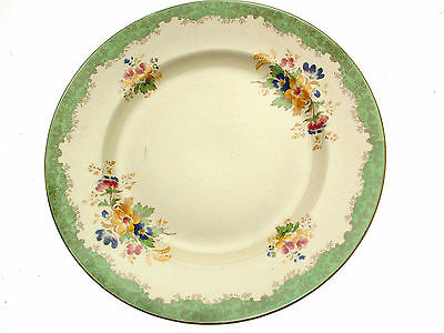 c1940 Burleigh Ware Burgess and Leigh Floral Plate