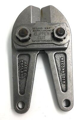 Record Tools Clipper Cut Bolt Cutters Head  918 F