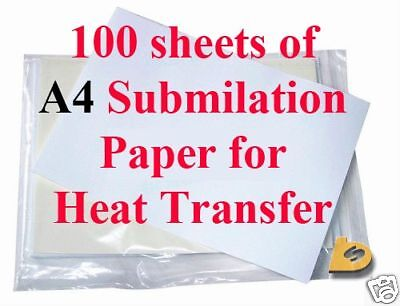 100 A4 High Release Dye Sublimation Paper For Epson Sublimation Ink Jet Printer