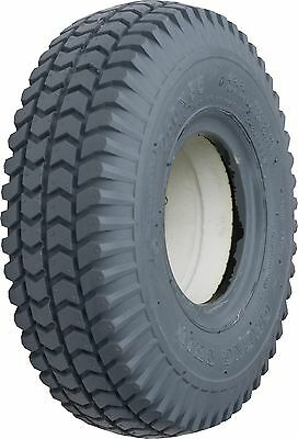VAT EXEMPT 2x NEW PUNCTURE PROOF 260x85 SOLID MOBILITY SCOOTER TYRES Block Tread