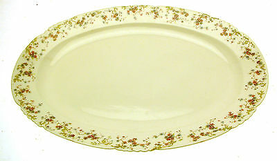 George Jones A-F Embossed Floral 17.5 Inch Ashet