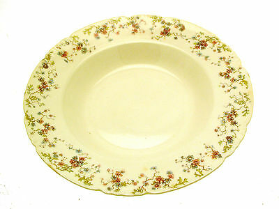 George Jones A-F Embossed Floral 10 Inch Soup Bowl