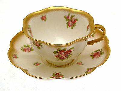 George Jones 16920 Pink Rose Cup and Saucer