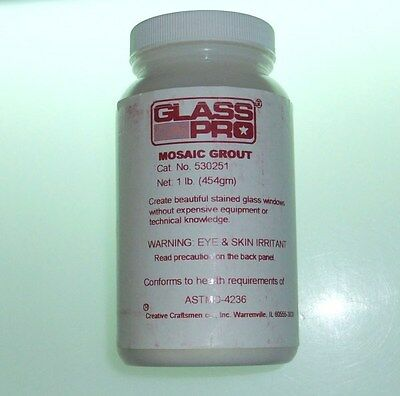 1 lb. GLASS PRO Stained Glass Mosaic Grout - BLACK