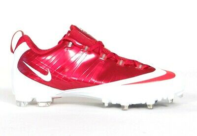 9d69d6fb02f8 Nike Zoom Vapor Carbon Flywire TD Low Football Cleats Red   White Mens NWT