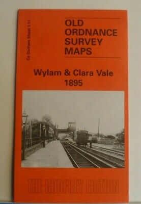 Old Ordnance Survey Maps Wylam & Clara Vale  including Colliery 1895 Godfrey Ed
