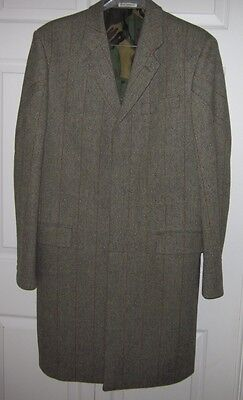 British Designer Oliver Spencer Mens Charcoal Gray Wool Dress Overcoat Coat 42