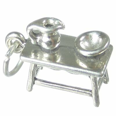 Office Chair sterling silver charm .925 x 1 offices chairs charms SSLP3044