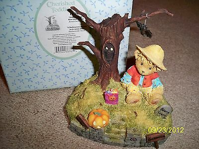 Cherished Teddies Halloween's a Boo-tiful Thing Avon Exclusive NIB Makes Sound