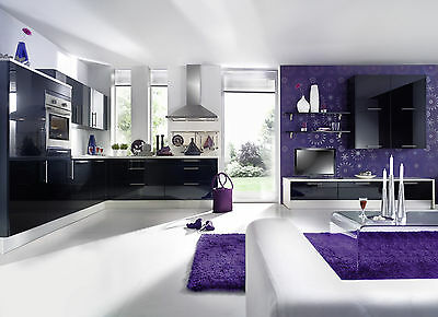 sch ller k che gala kristallwei hochglanz. Black Bedroom Furniture Sets. Home Design Ideas