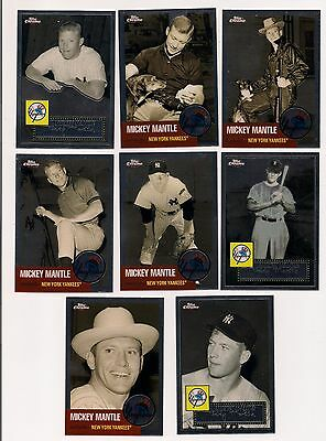 8 CHROME Mickey Mantle Story Cards! Topps 3 10,14,15,19,23,25,27,28, MM10 LOOK!