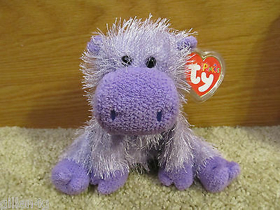 Ty Inc. 2003 Punkies Hippo Beanie Plush Angel *lnwt*