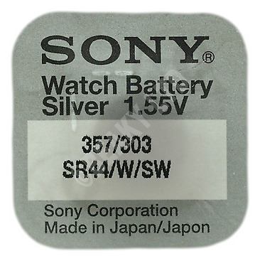 Genuine SONY 303 SR44SW Silver Oxide Watch Battery 1.55v [1-Pack]