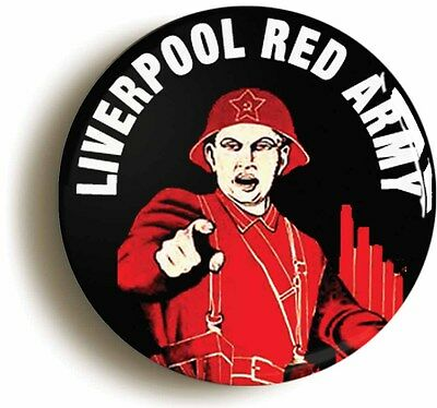 LIVERPOOL RED ARMY BADGE BUTTON PIN (1inch/25mm diameter)