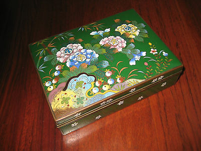 ANTIQUE  JAPANESE CLOISONNE ENAMEL BOX 1920s