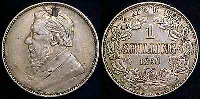 SOUTH AFRICA 1896 Silver Shilling VF+