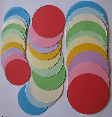 600 Coloured Paper Circles Kindy Origami Craft 8cm 10cm & 12cm Bulk Buy