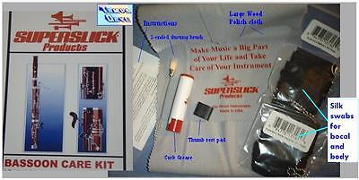 Bassoon maint / CARE kit Silk SWABS, brush grease etc.