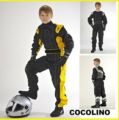 SPEED Kinder Kartoverall Kart Overall Overal Kartanzug Gr.98 - 128 Child Suit