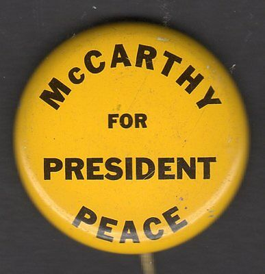 Peace - McCarthy For President BUtton