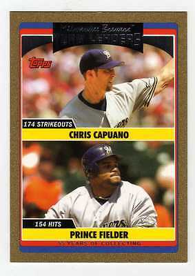 2006 Topps Update Gold #299 Chris Capuano/Prince Fielder Brewers TL BV$5