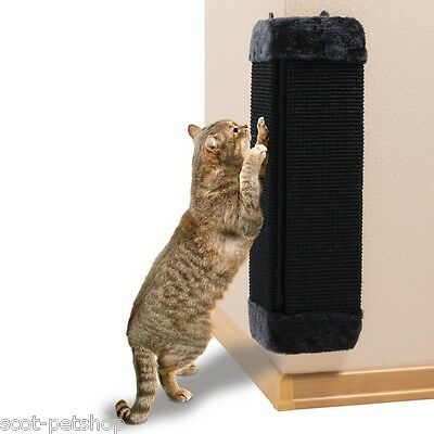 NEW - Black Corner Scratching Post For cats & Kittens 4343