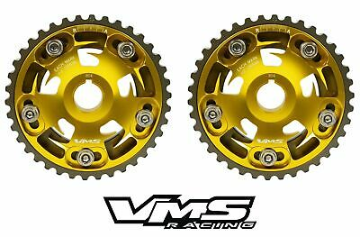 Vms Honda Acura B Series Engines Adjustable Billet Cam Gears Pair Set Qty 2 Gold