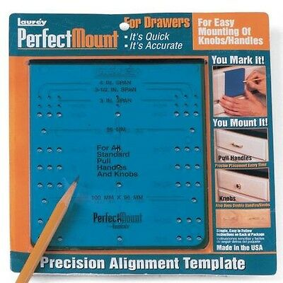 Perfect Mount For Kitchen Drawers Knobs / Pulls Alignment Template 98101