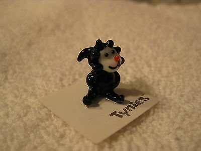 BOW Sheep BLACK Farm TYNIES Tiny Glass Figure Figurines Collectibles NEW 0099