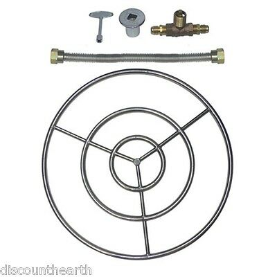 "6"" 12"" 18"" 24"" 30"" 36"" 48"" Stainless Steel Gas Fire Pit Burner Ring Kit for NG"