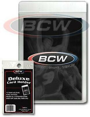 Pack of 10 BCW Semi-Rigid Deluxe Baseball Trading Card Holders protectors