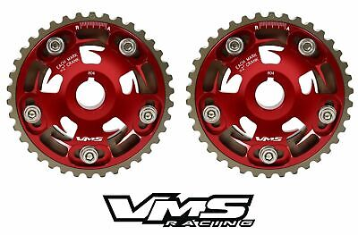 Vms Honda Prelude H22 Dohc Engines Adjustable Billet Cam Gears Pair Qty 2 Red