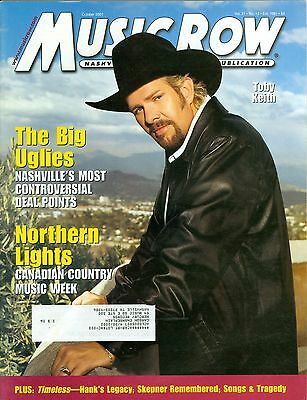Toby Keith cover Music Row magazine 2001