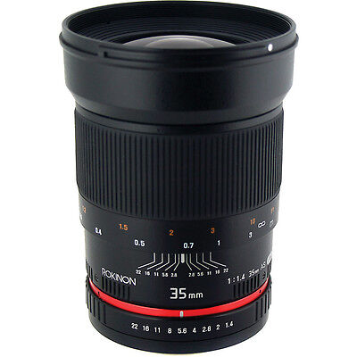Rokinon 35mm f/1.4 F1.4 Wide Angle Lens for Sony Camera