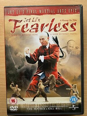 Jet Li FEARLESS ~ 2006 Ronny Yu Chinese Martial Arts Epic ~ UK DVD