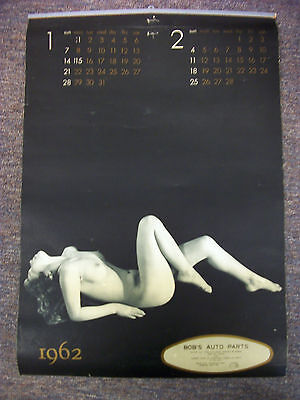 1962 Calendar with Nude Art Photography, Rare