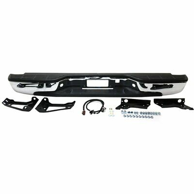 Step Bumper Assembly For 2001-2006 GMC Sierra 2500 HD Fleetside Pwd-Ctd Silver