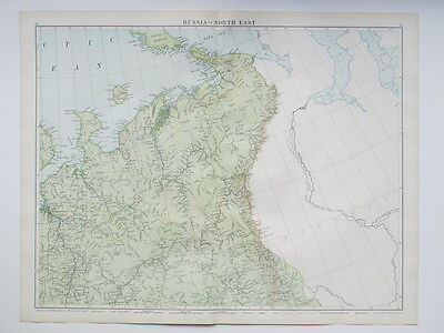 1920 Map Russia North East Large Colour Map Gross