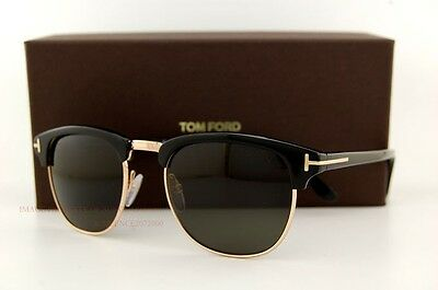 38fb52f8acf Brand New Tom Ford Sunglasses CLUBMASTER FT 248 HENRY Color 05N GOLD BLACK  UNI